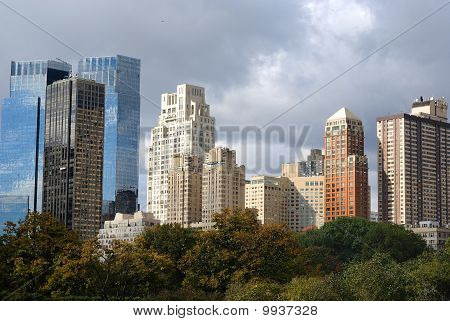 Skyscrapers from Central Park in New York City