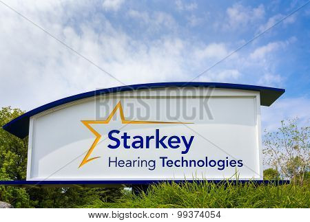 Starkey Hearing Technologies Headquarters And Sign