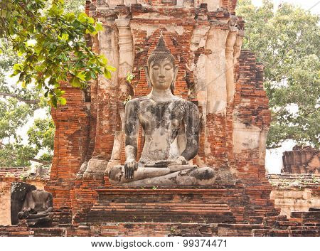 Old Buddha Status At Thailand.