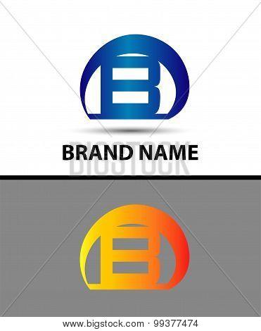 Letter B logo. Alphabet logotype vector design
