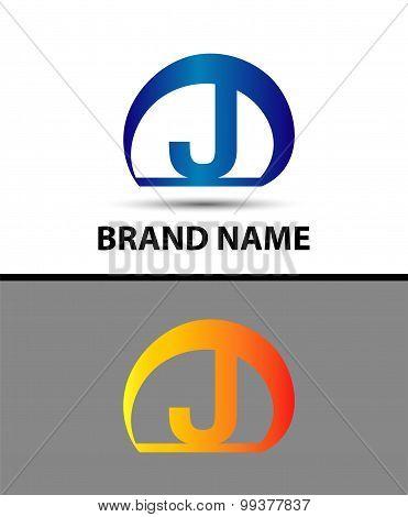 Letter J logo. Alphabet logotype vector design