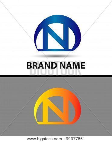 Alphabetical Logo Design Concepts. Letter n