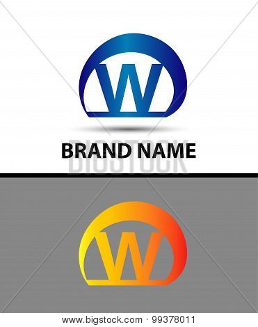Alphabetical Logo Design Concepts. Letter W