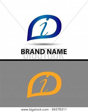 Letter I logo design