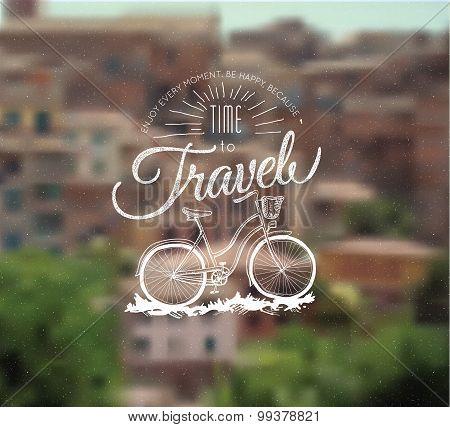 retro printing label bicycle template