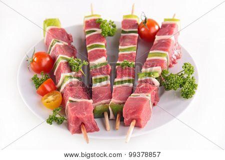 raw meat kebab