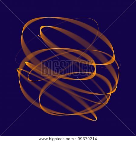 Abstract background. Geometric pattern. Orange lines on dark blue background. Digital art.