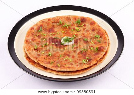 Traditional Indian bread-Aloo paratha ,