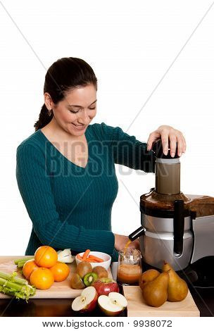 Woman Making Fruit Juice