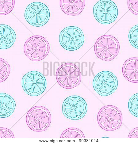 Blue and pink citruses