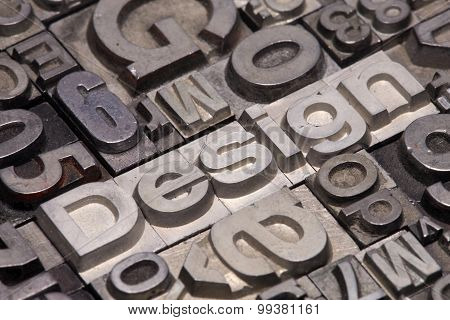Lead Type Letters