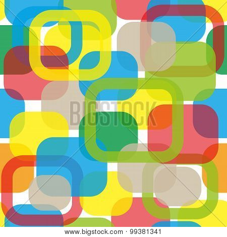 Vector seamless abstract background with square figures