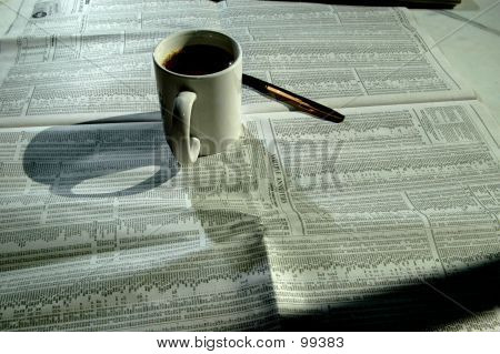 Coffee And Stock Chart 4