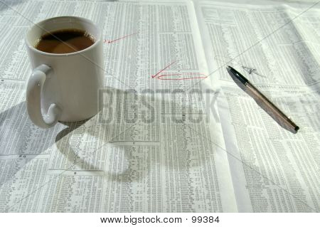 Coffee And Stock Chart 5