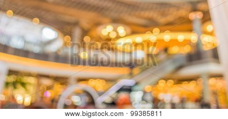 Blur Image Of People In Mall