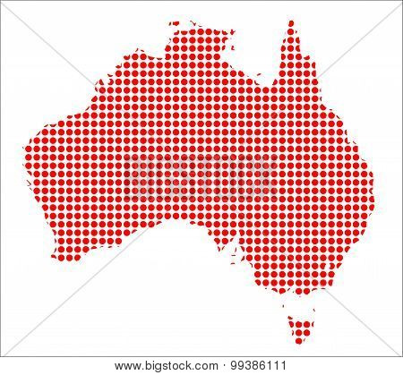 Red Dot Map Of Australia