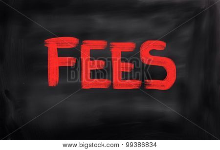 Fees Concept
