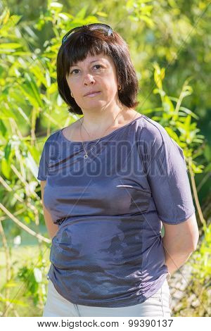 Brunette Middle-aged