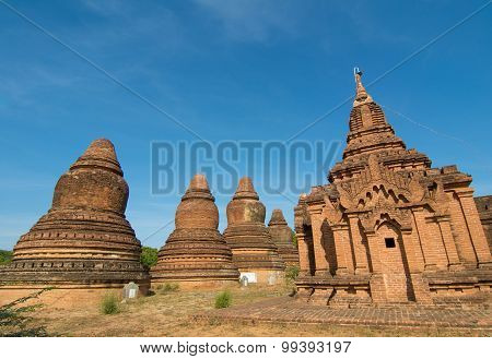 View Of Bagan Temples, Myanmar