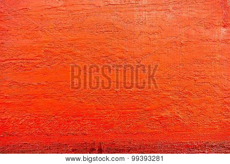 Red Painted Canvas With Brush Strokes Texture