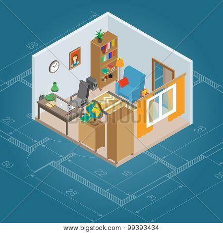 Isometric Cabinet Interior