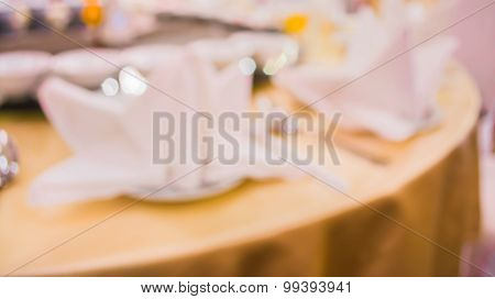 Image Of Blur Table Dinning Set