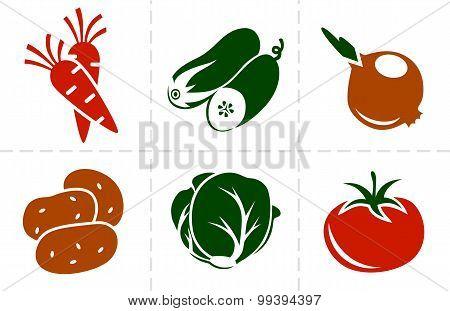 Vegetables Icon Set