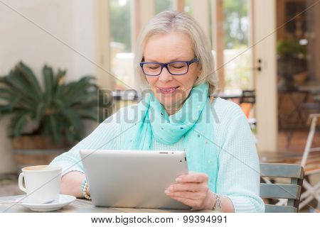 Senior Woman Tablet