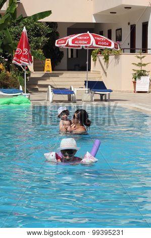 Fun in a swimming pool