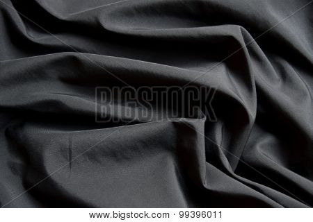 abstract background luxury cloth or liquid wave or wavy folds of black cloth texture