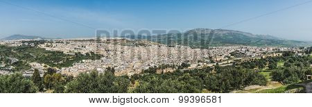 The Panorama Of Fes City Town In Morocco