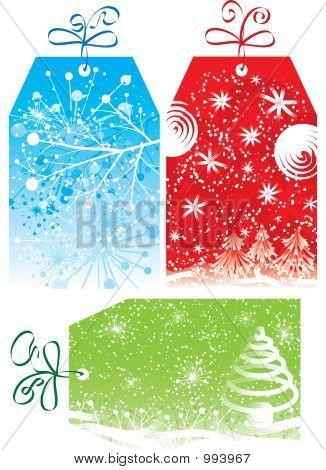Etiquetas de regalo de Navidad