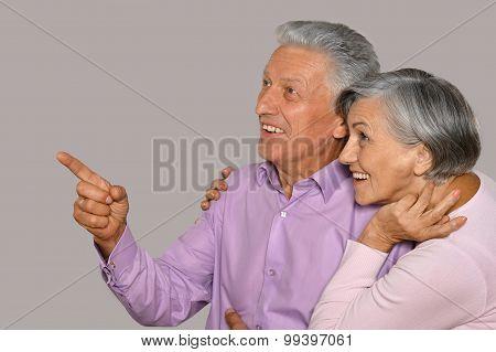 Portrait of  happy  old couple