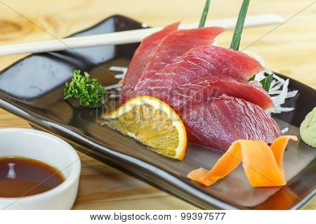 Traditional Japanese Food, Maguro (tuna) Sashimi