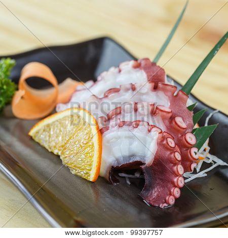 Traditional Japanese Food, Squid Sashimi