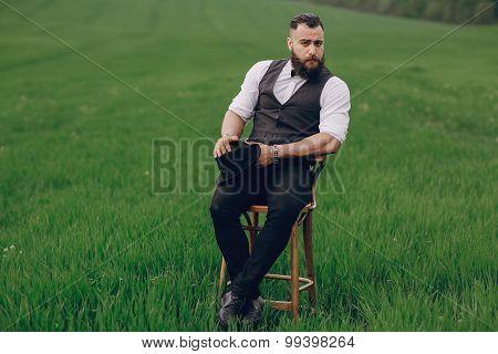 lone bearded man