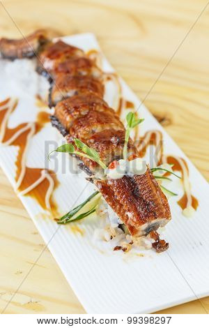 Traditional Japanese Food, Unagi Or Eel