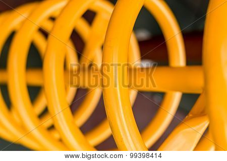 Yellow Spiral Abstract / Yellow Spiral