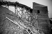 stock photo of hatcher  - Independence Mine produced 6 million dollars - JPG