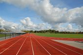 pic of track field  - college running track  - JPG