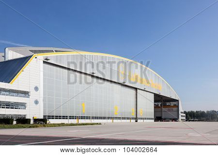 Lufthansa Hangar At The Frankfurt Airport