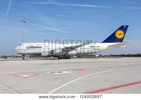 Lufthansa Boeing 747 At The Frankfurt Airport