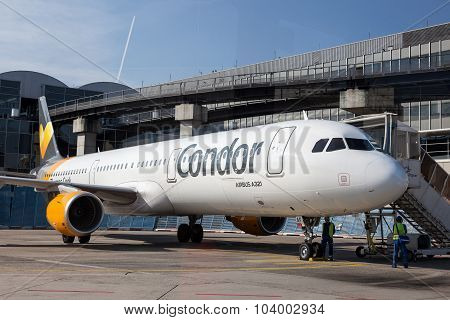 Condor Airbus A321 At The Frankfurt Airport
