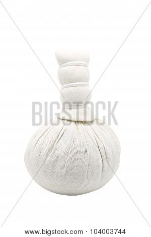 Herbal Compress , Herbal Ball On White Background