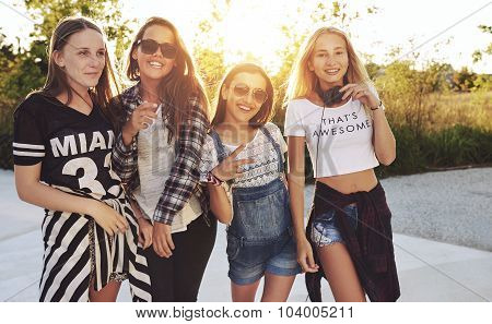 Group Of Girls Posing