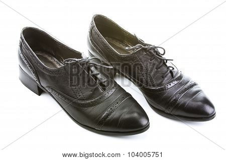 Black Female Shoes With Laces