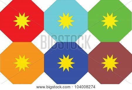 Pattern With Octagons And Stars