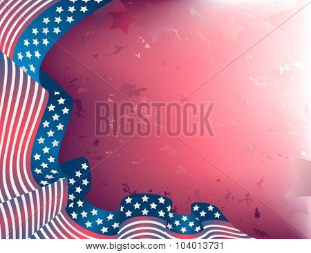 Us flag ribbon background