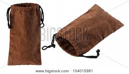 Pouch, Suede,