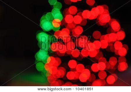 Defokussiert Weihnachtsbaum Lichter